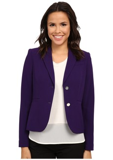 Calvin Klein Solid Two Button Jacket