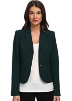 Calvin Klein Solid Two Button Jacket