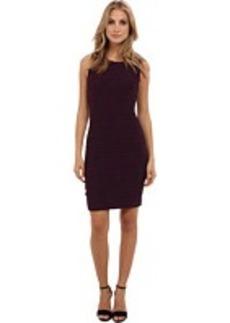 Calvin Klein Solid Wavy Texture Knit Dress