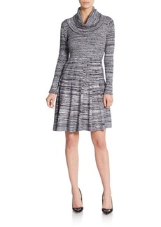 Calvin Klein Spaced Dyed Fit-And-Flare Sweater Dress