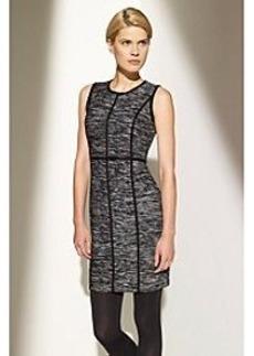 Calvin Klein Spacedye Grid Sheath Sweater Dress
