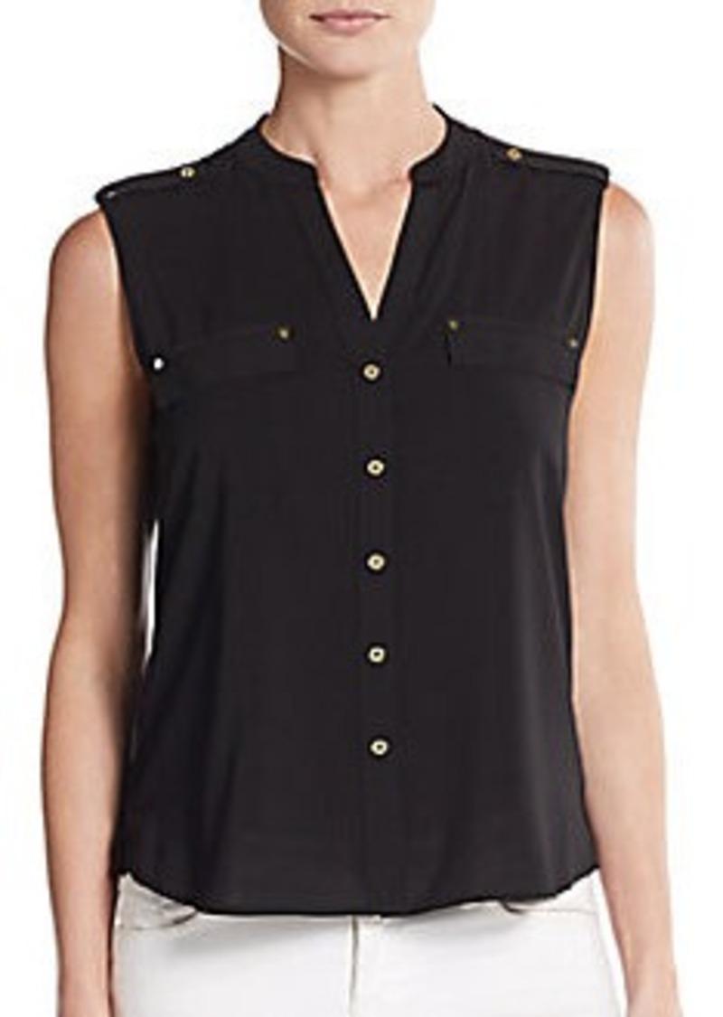 Calvin Klein Calvin Klein Splitneck Epaulet Blouse Dress