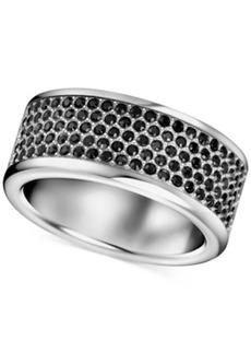 Calvin Klein Stainless Steel Black Swarovski Crystal Ring