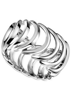 Calvin Klein Stainless Steel Curved Link Ring