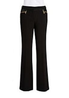 CALVIN KLEIN Straight-Leg Crepe Pants