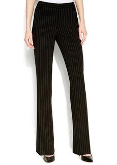 Calvin Klein Straight-Leg Pinstriped Pants