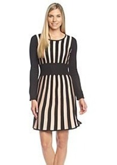 Calvin Klein Stripe Fit And Flare Sweater Dress