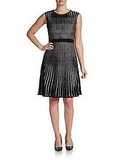 Calvin Klein Striped A-Line Sweater Dress
