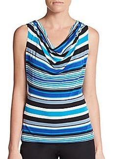 Calvin Klein Striped Cowlneck Top