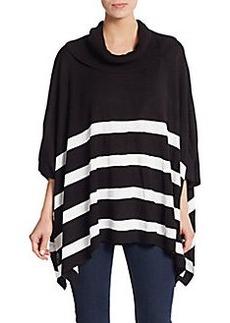 Calvin Klein Striped Knit Poncho