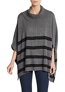 Calvin Klein Striped Knit Poncho