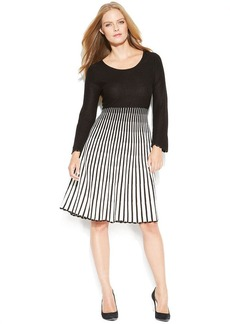 Calvin Klein Petite Striped Ombre Sweater Dress