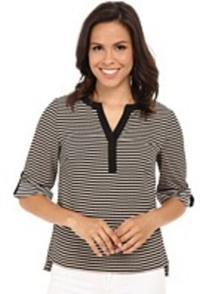 Calvin Klein Striped Roll Sleeve Blouse