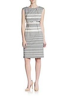 Calvin Klein Striped Stretch-Jersey Dress