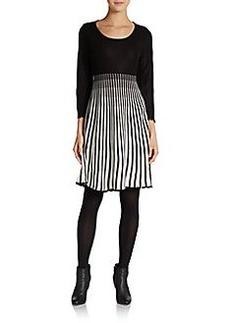 Calvin Klein Striped Textured Knit Dress