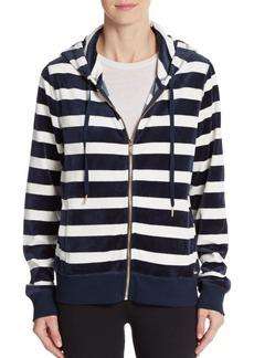 Calvin Klein Striped Velour Hoodie