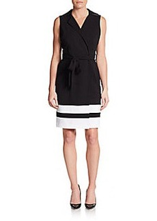 Calvin Klein Striped Zip-Front Dress
