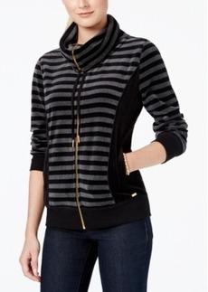Calvin Klein Striped Zip-Front Jacket