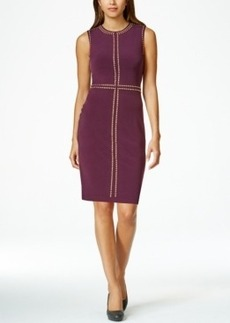 Calvin Klein Stud-Trim Sheath Dress