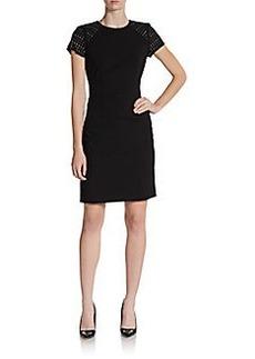 Calvin Klein Studded Shoulder Sheath Dress