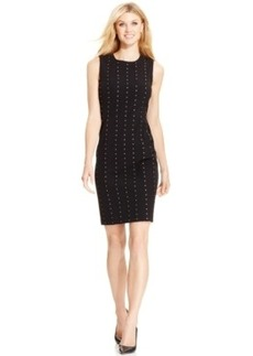 Calvin Klein Studded-Stripe Sheath Dress