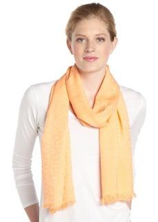 Calvin Klein sunset orange CK logo pattern pashmina scarf