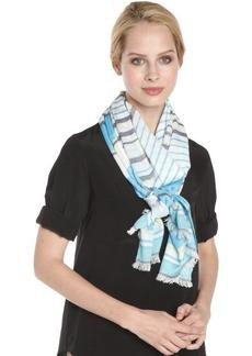 Calvin Klein surf blue 'Cabana' stripe scarf