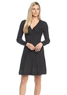 Calvin Klein Surplice Fit And Flare Sweater Dress