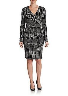 Calvin Klein Surplice Wrap Dress