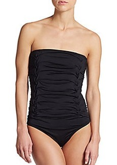 Calvin Klein Swim Ruched Maillot Swimsuit