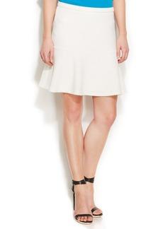 Calvin Klein Textured Flared Skirt