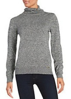 CALVIN KLEIN Textured Knit Turtleneck Sweater