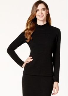 Calvin Klein Textured Mock-Neck Top