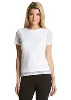 Calvin Klein Textured Stripe Top