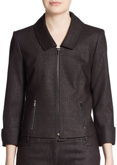 Calvin Klein Three-Quarter Cuffed Zip Jacket