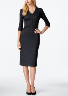 Calvin Klein Three-Quarter-Sleeve Ponte Sheath Dress