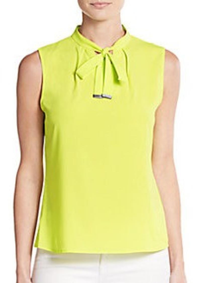 Calvin Klein Calvin Klein Tie Neck Keyhole Blouse Dress