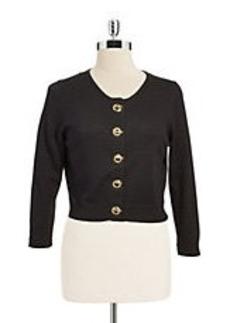 CALVIN KLEIN Toggle Crop Sweater