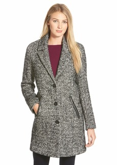 Calvin Klein Tweed Walking Coat