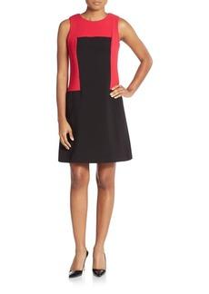 Calvin Klein Two-Tone A-Line Dress