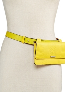 Calvin Klein Two-Tone Lizard-Embossed Fanny Pack