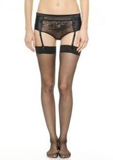 Calvin Klein Underwear Black Briefs with Removable Garters