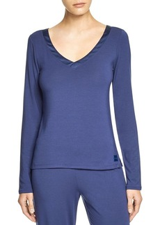 Calvin Klein Underwear Essentials Long Sleeve V-Neck Pajama Top