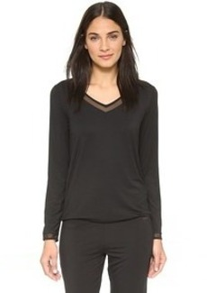 Calvin Klein Underwear Ethereal Tailored Long Sleeve Pajama Top