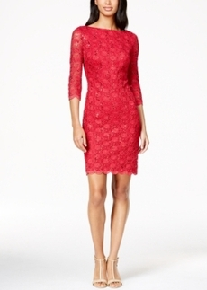 Calvin Klein V-Back Lace Sheath Dress