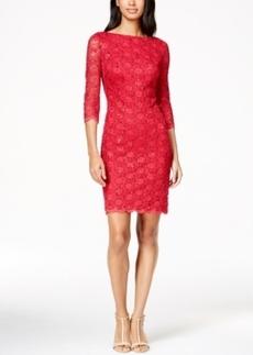 Calvin Klein V-Back Lace Sheath Dress