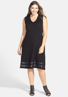 Calvin Klein V-Neck Sweater Dress (Plus Size)
