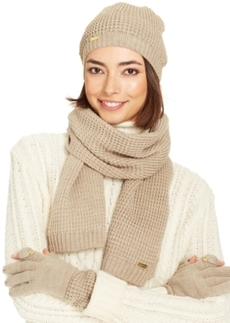 Calvin Klein Waffle Knit Hat, Texting Gloves & Scarf Set