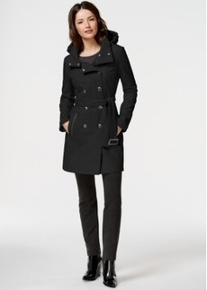 Calvin Klein Water-Resistant Hooded Trench Coat