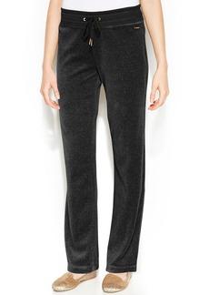 Calvin Klein Wide-Leg Velour Drawstring Pants